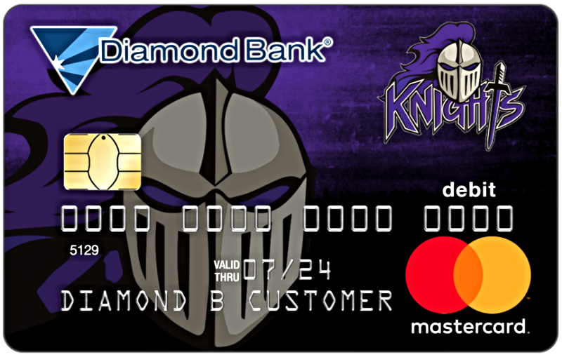 centerpoint knights mascot debit card