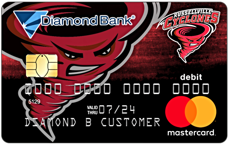 Russellville Cyclones Debit Card
