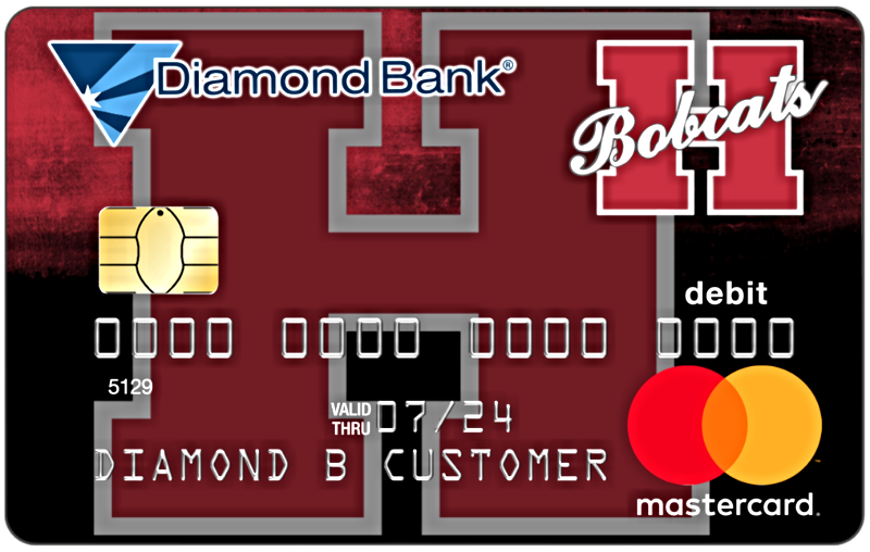 hope bobcats mascot debit card