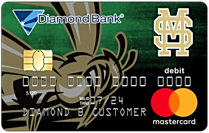 mineral springs hornets mascot debit card
